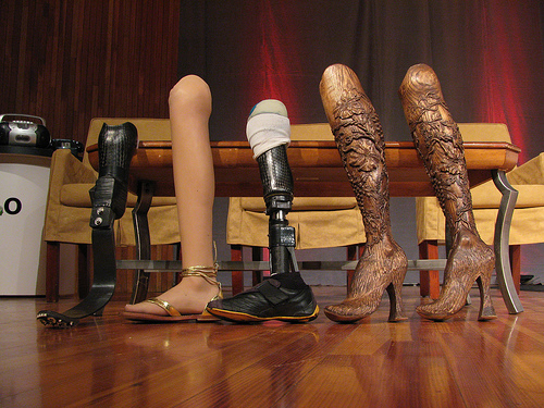 Aimee Mullins legs collection