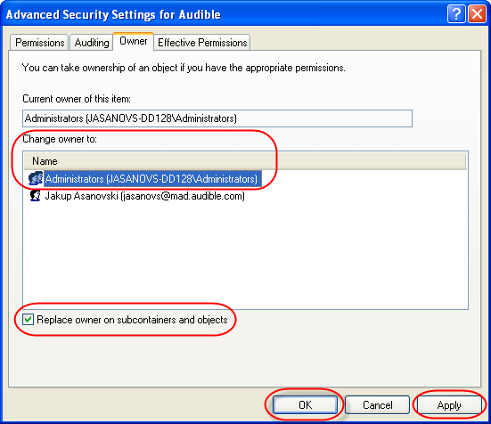 PC-Registry Permissions Screen