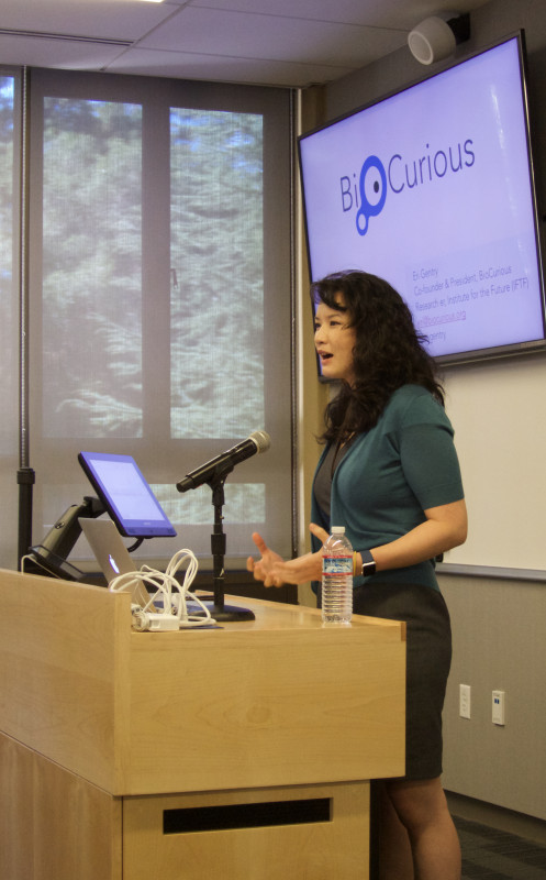 Eri Gentry, founder of BioCurious, Silicon Valley's Hackerspace for Biotech, presents at the Sage Conference held on September 19, 2015 at Stanford University.