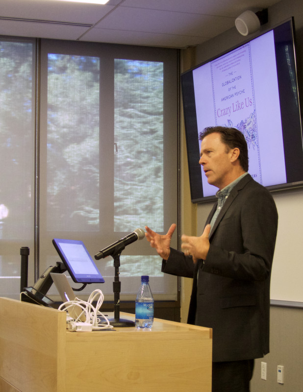 "Journalist Ethan Watters, author of the book ""Crazy Like Us,"" presents at the Sage Conference held on September 19, 2015 at Stanford University."