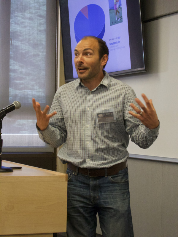 Josh Whitkin, Ph.D., designer/producer of next-generation apps for health, presents at the Sage Conference held on September 19, 2015 at Stanford University.