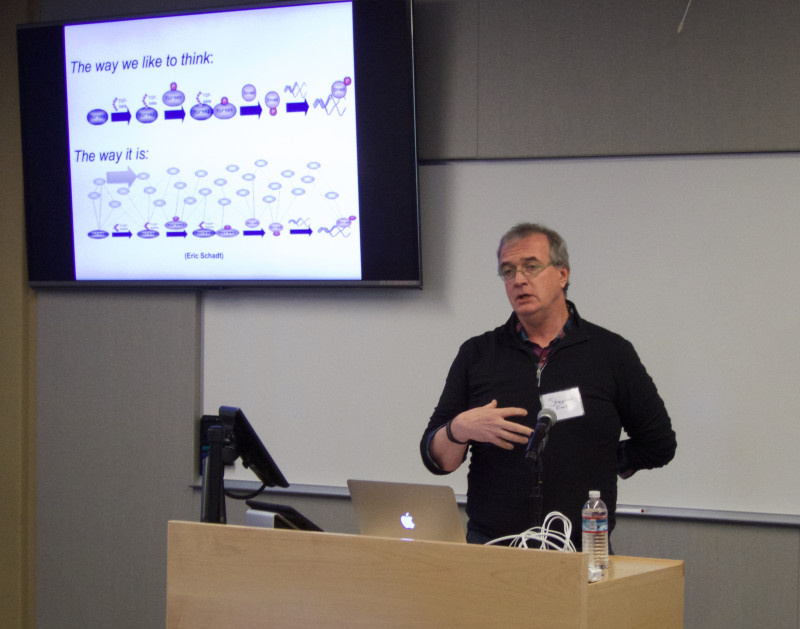 Stephen Friend, M.D., Ph.D., President of Sage Bionetworks, presents at the Sage Conference held on September 19, 2015 at Stanford University.