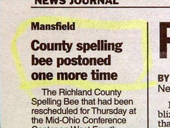 Spelling Bee Postoned