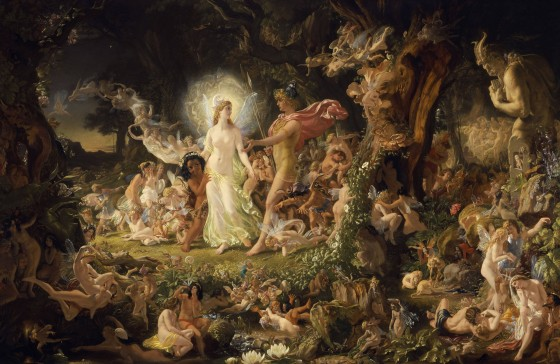 The Quarrel of Oberon and Titania (1846) by Joseph Noel Paton