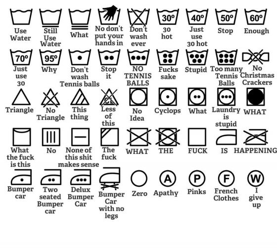 laundry icons fails