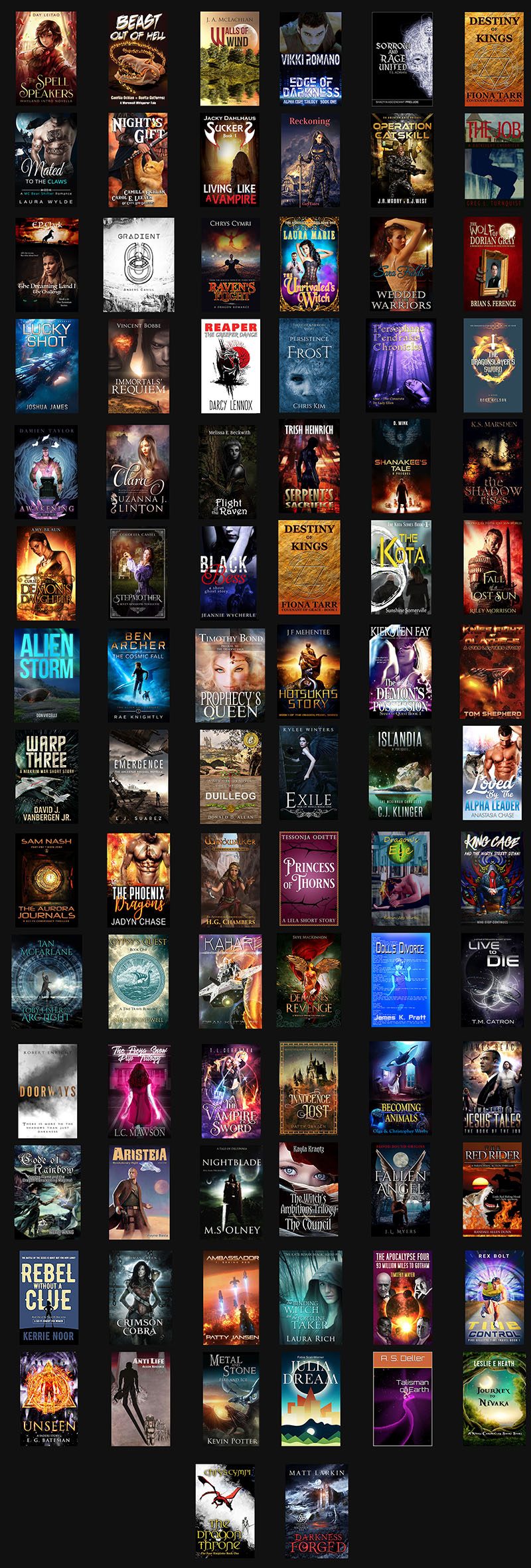 Fantasy Books Giveaway