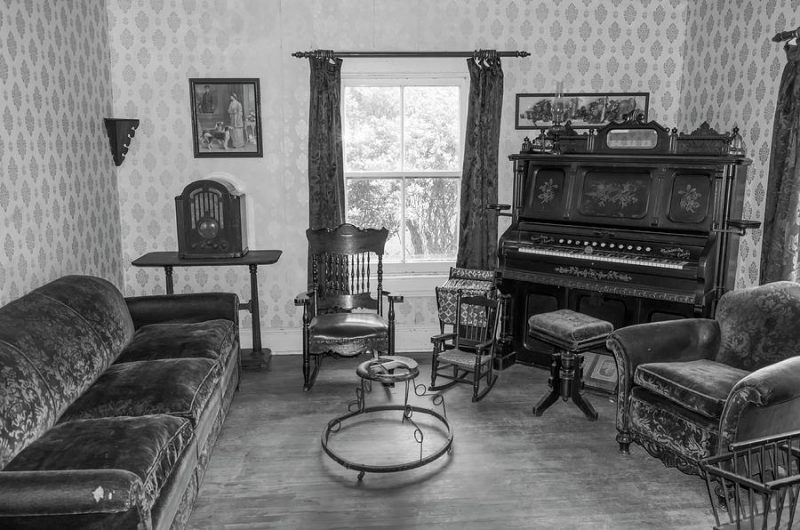 Piano in a a parlor 1920s image by Bob Corson