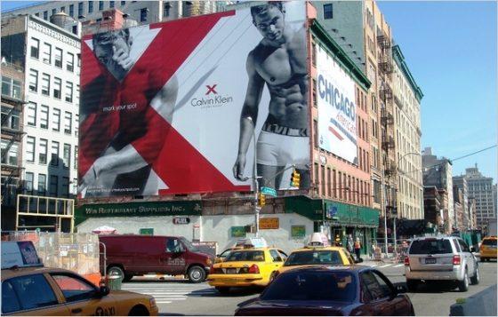 Calvin Klein Ad in Times Square